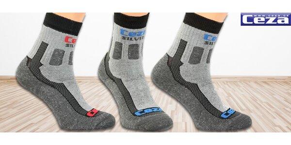 Tři páry funkčních ponožek Ceza SILVER vč. poštovného!