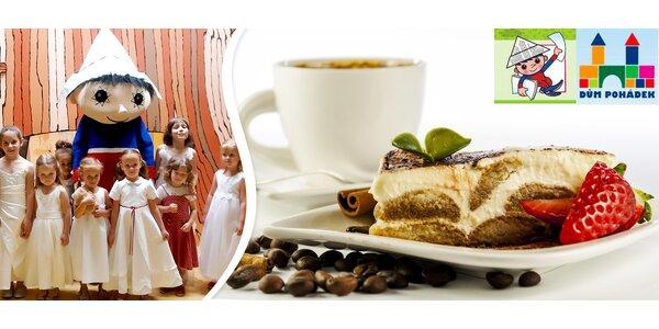2x teplý nápoj a dort v Cukrárně v Domě pohádek