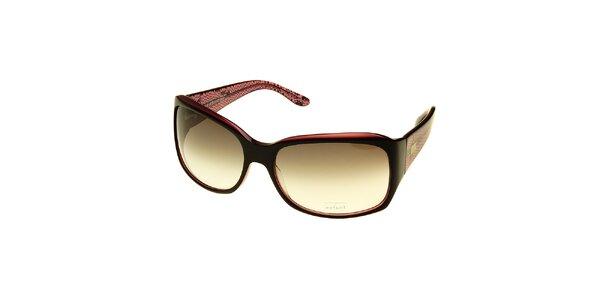 Dámské hnědo-růžové sluneční brýle Axcent s hadím vzorem