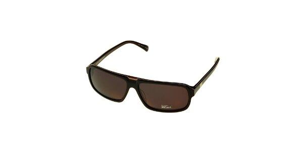 Dámské tmavě hnědé sluneční brýle Axcent