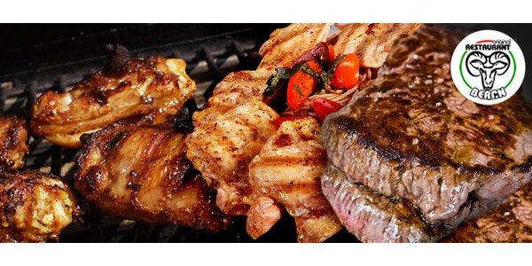 Obří mix grill. Výtečné maso pro DVA