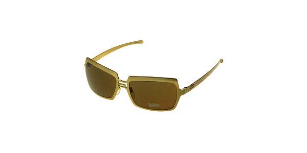 Dámské zlaté sluneční brýle Axcent