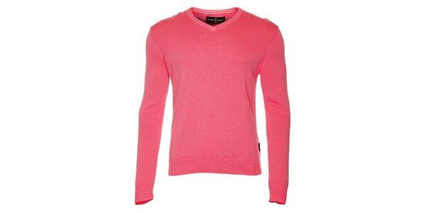 Pánský růžový svetr s výstřihem do V Roberto Verino