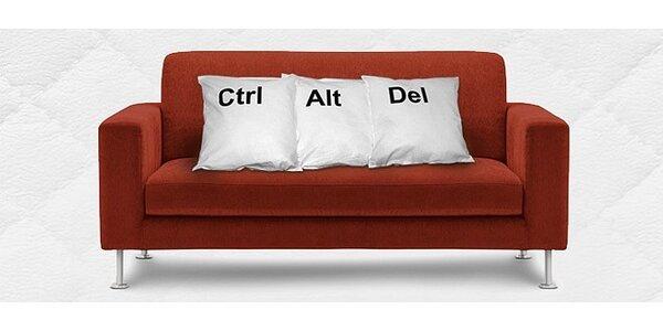 Sada tří luxusních polštářů Ctrl + Alt + Del