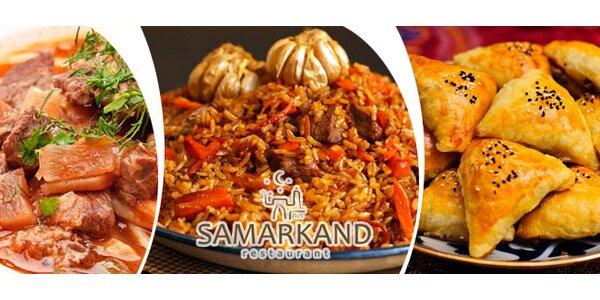 Degustační uzbecké menu pro 2 v restauraci Samarkand
