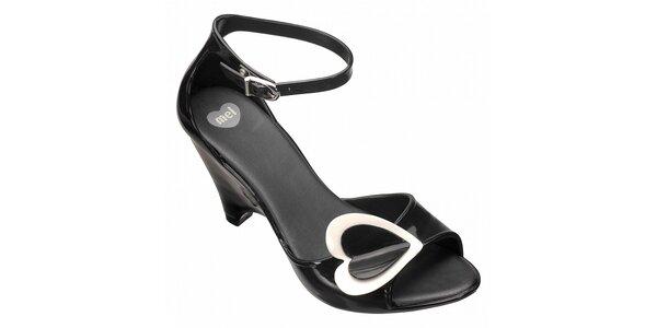 Černé boty na podpatku Mel
