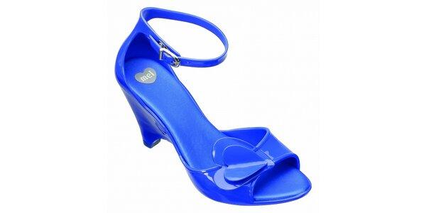 Modré boty na podpatku Mel