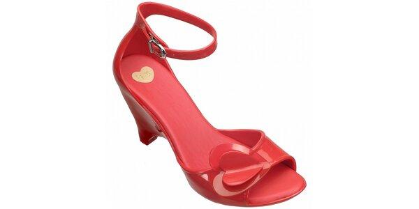 Červené boty na podpatku Mel