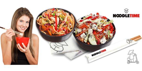 2 jakákoli jídla z NoodleTime s možností rozvozu