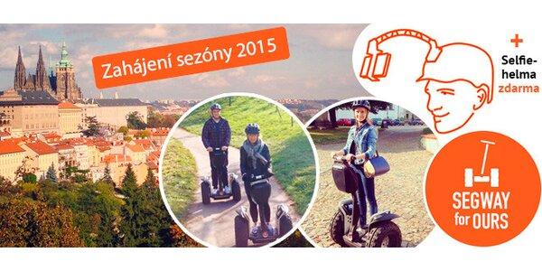 Jízda po Praze na Segwayi se selfie-helmou