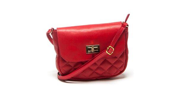 Dámská malá červená prošívaná kabelka Mangotti