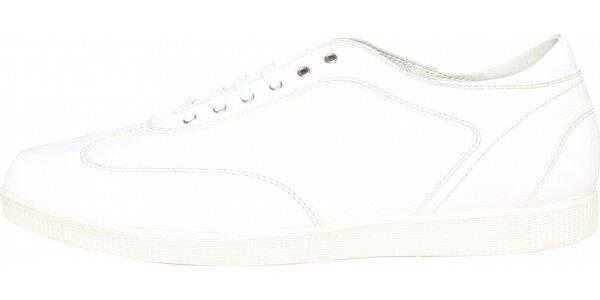 Dámské bílé kožené tenisky Fratelli Rossetti