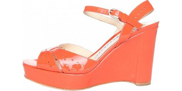 Dámské korálově růžové páskové boty Fratelli Rossetti