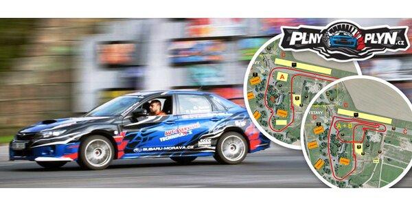 Až 4 kola na závodním okruhu v Subaru WRX STi
