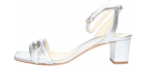 Dámské stříbrné páskové boty Fratelli Rossetti