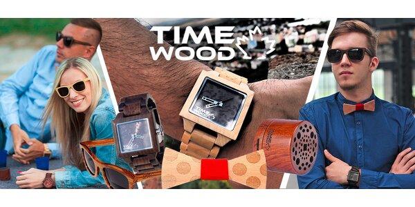 Stylové doplňky Timewood z přírodního dřeva