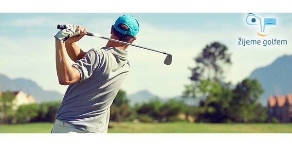 Seznámení s golfem: 2hodinová lekce s trenérem + hra