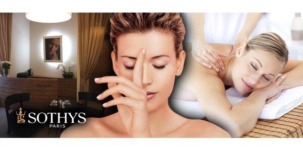 349 Kč za úžasnou masáž tří vůní prvotřídní francouzskou kosmetikou Sothys!