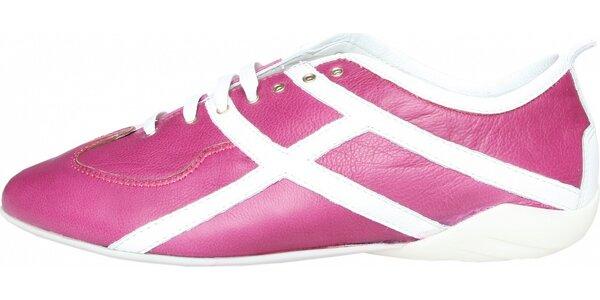 Dámské růžovo-bílé tenisky Fratelli Rossetti