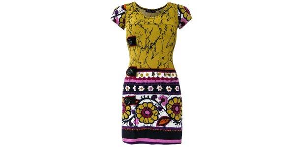 Dámské šaty s květinovým vzorem Purple Jam