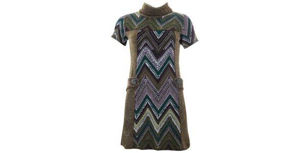 Dámské šaty s cikcak vzorem Purple Jam