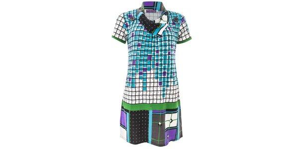 Dámské modře kostkované šaty Purple Jam