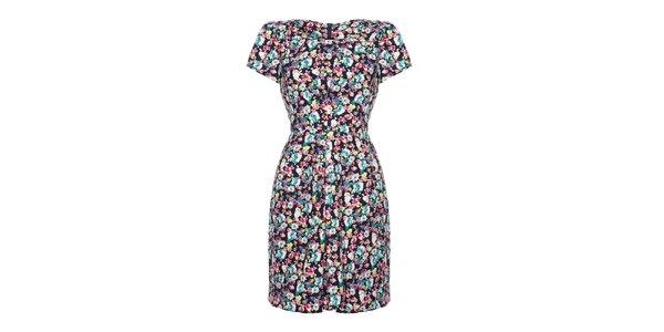 Dámské pestrobarevné šaty s květy Yumi