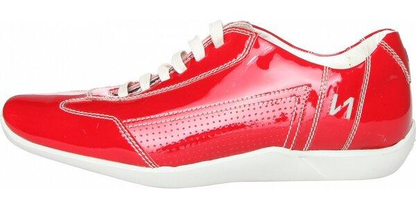 Dámské červené kožené tenisky Fratelli Rossetti