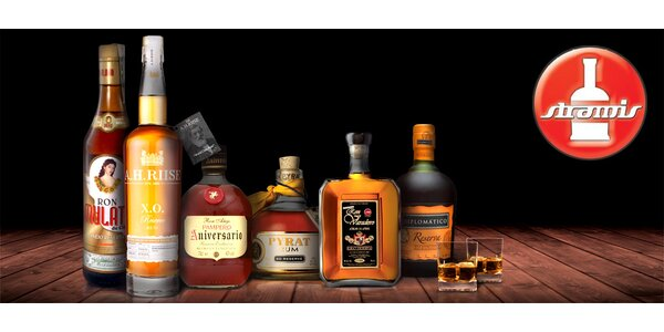 Degustace 6 prémiových jihoamerických rumů