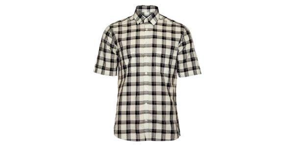 Pánská černo-bílá kostkovaná košile Pietro Filipi