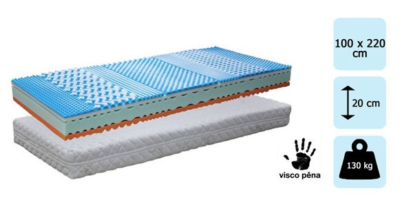 2 ks matrace TROPICO Soft sleep Cashmere 100x220
