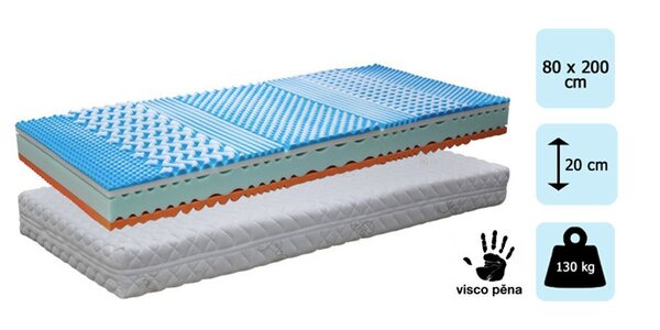 2ks Matrace TROPICO Soft sleep Cashmere 80x200 cm