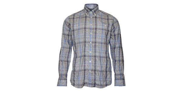 Pánská modrá kostkovaná košile Pietro Filipi