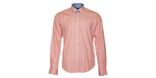 Pánská růžová proužkovaná košile Pietro Filipi