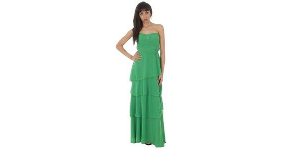 Dámské dlouhé zelené šaty Paola Pitti s volány