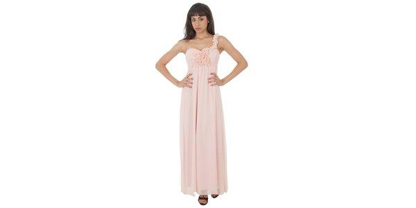 Dámské dlouhé světle růžové šaty Paola Pitti