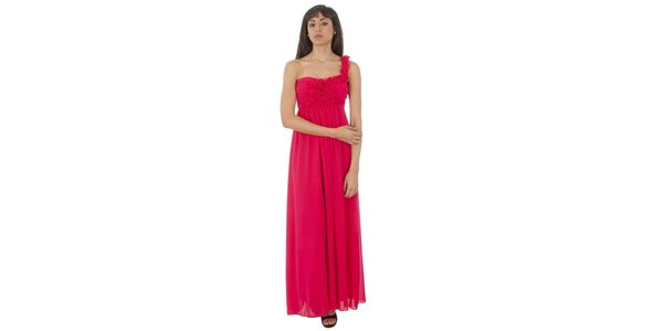 Dámské dlouhé fuchsiové šaty Paola Pitti