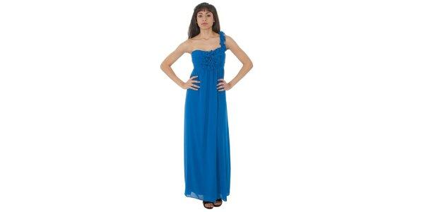 Dámské dlouhé zářivě modré šaty Paola Pitti