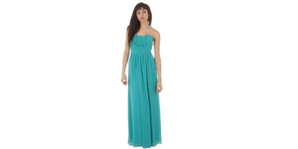 Dámské dlouhé tyrkysové šaty Paola Pitti