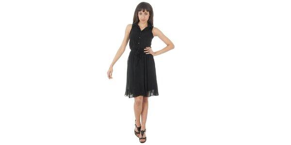 Dámské černé šaty s americkými průramky Paola Pitti