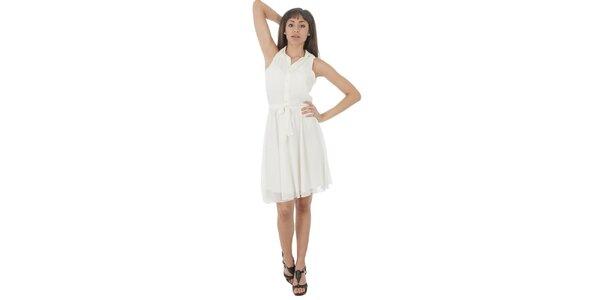Dámské bílé šaty s americkými průramky Paola Pitti