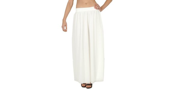 Dámská bílá dlouhá sukně Paola Pitti