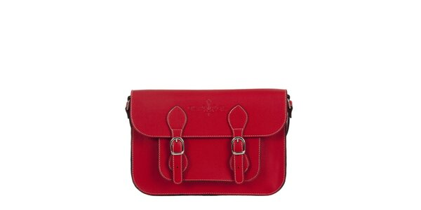 Dámská červená aktovka s popruhem Paola Pitti