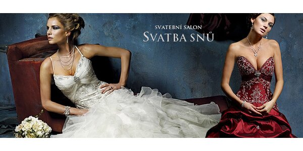 Sleva 40 % na zapůjčení krásných svatebních šatů