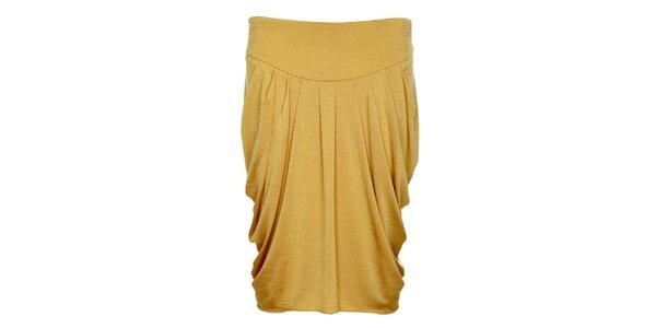 Dámská zlatavě béžová sukně Pietro Filipi