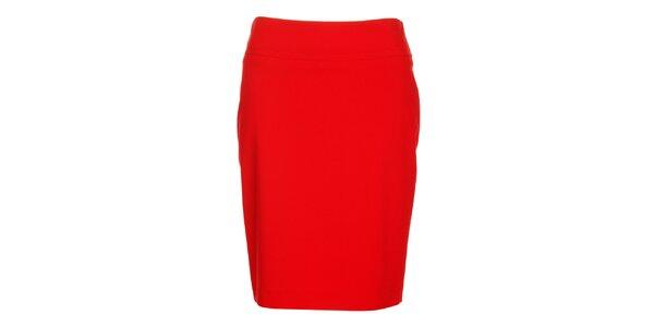 Dámská červená pouzdrová sukně Pietro Filipi
