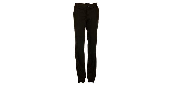 Dámské černé proužkované kalhoty Pietro Filipi