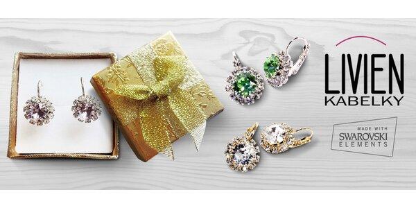 Krásné náušnice s krystaly Swarovski