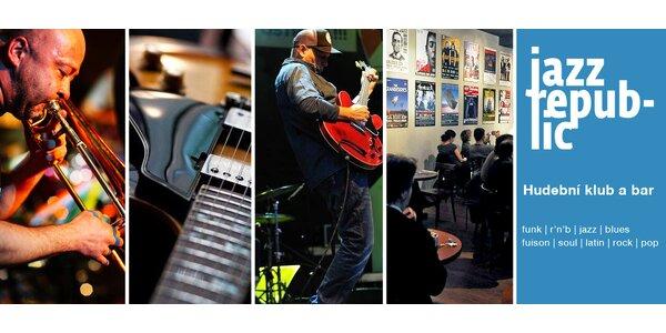 Otevřené vstupenky na koncerty v Jazz Republic