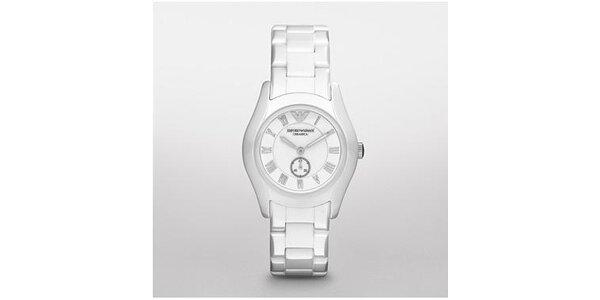 Sportovní dámské hodinky Emporio Armani z bílé keramiky